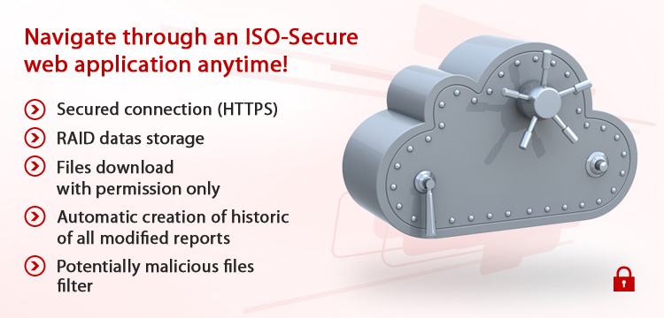 Navigate through an ISO-Secure web application anytime